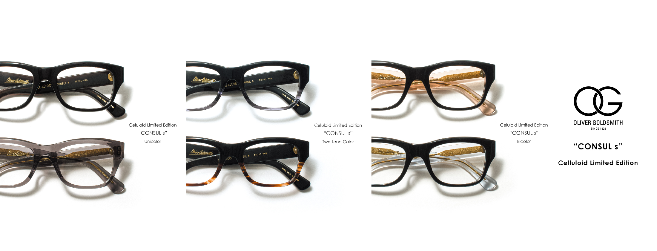 OG OLIVER GOLDSMITH CONSULs Celluloid Limited Edition